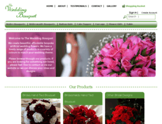 theweddingbouquet.co.uk screenshot