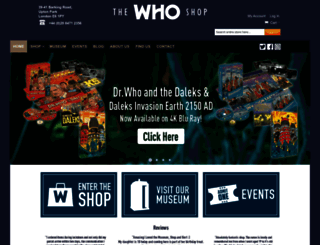thewhoshop.com screenshot