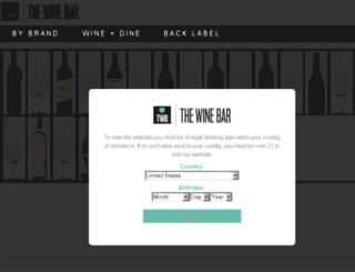 thewinebar.com screenshot