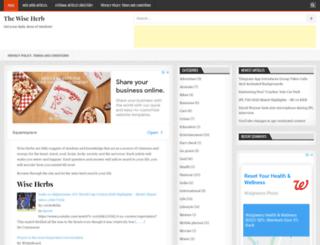 thewiseherb.com screenshot