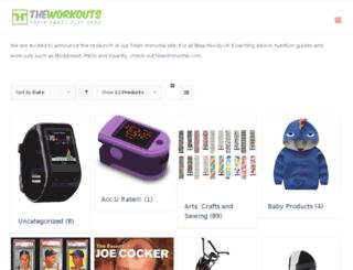 theworkouts.com screenshot