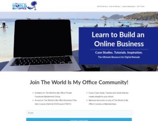theworldismyoffice.com screenshot