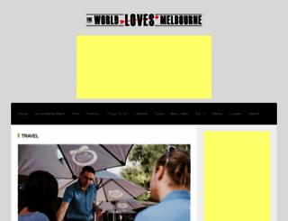 theworldlovesmelbourne.com screenshot