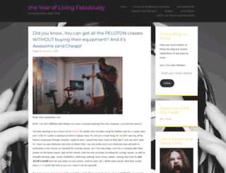theyearoflivingfabulously.com screenshot
