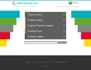 thierryhenry.com screenshot
