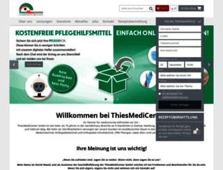 thiesmedicenter.de screenshot
