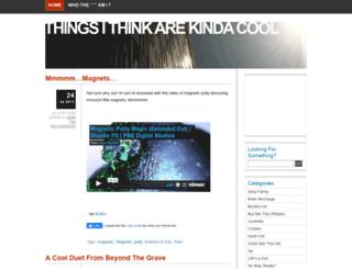 thingsithinkarekindacool.com screenshot