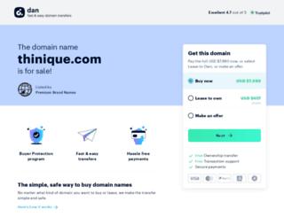 thinique.com screenshot