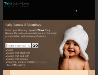 thinkbabynames.com screenshot