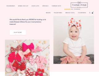 thinkpinkbows.com screenshot