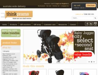 thinkprams.com.au screenshot
