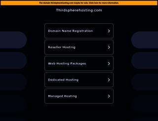 thirdspherehosting.com screenshot
