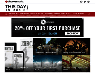 thisdayinmusic.com screenshot
