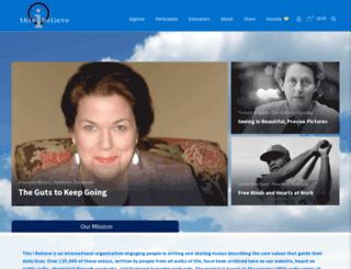 thisibelieve.com screenshot