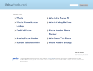 thiswhois.net screenshot