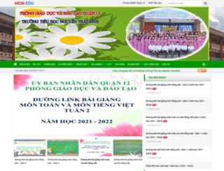 thnguyenthaibinhq12.hcm.edu.vn screenshot