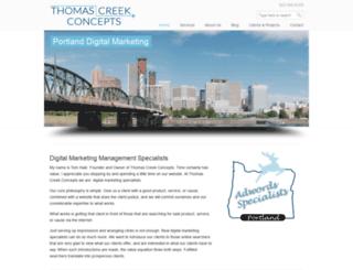thomascreekconcepts.com screenshot