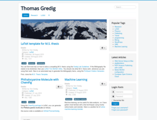 thomasgredig.com screenshot