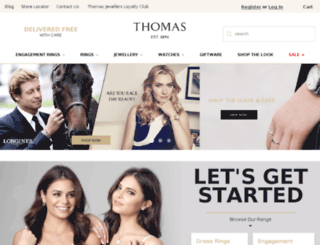thomasjewellers.com.au screenshot