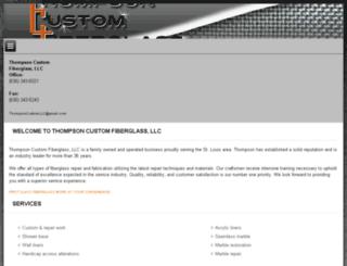 thompsonfiberglass.com screenshot