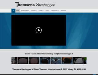 thomsensstenhuggeri.dk screenshot