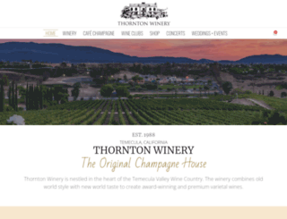thorntonwine.com screenshot