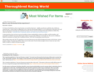 thoroughbredracingworld.com screenshot