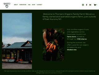 thorpesorganicfamilyfarm.com screenshot