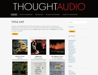 thoughtaudio.com screenshot
