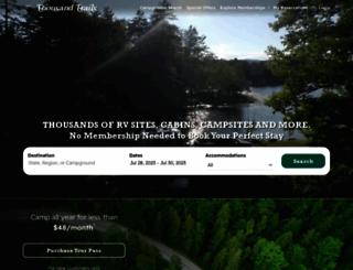 thousandtrails.com screenshot