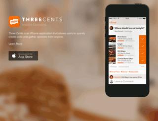 threecentsapp.com screenshot