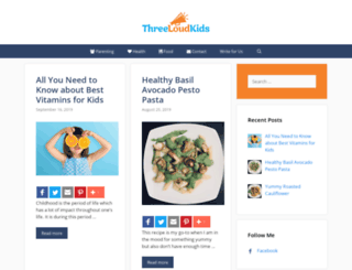 threeloudkids.com screenshot