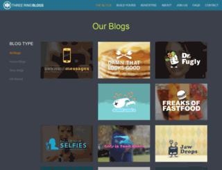 threeringblogs.com screenshot