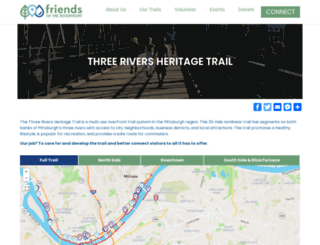 threeriversheritagetrail.org screenshot