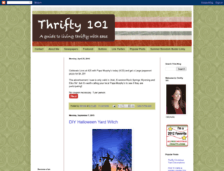 thrifty101.blogspot.com screenshot