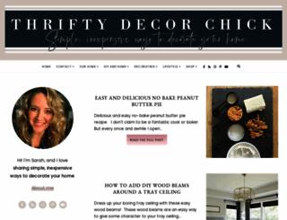 thriftydecorchick.com screenshot