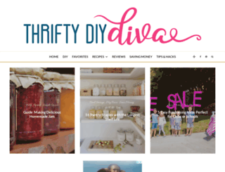 thriftydiydiva.com screenshot