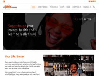thriveprogramme.org screenshot
