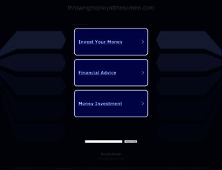 throwingmoneyatthescreen.com screenshot
