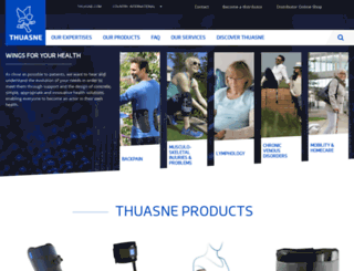 thuasne.com screenshot