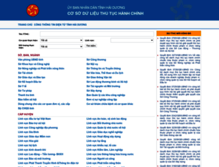 thutuchanhchinh.haiduong.gov.vn screenshot