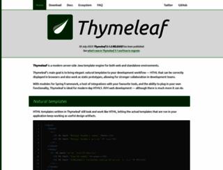 thymeleaf.org screenshot