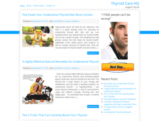 thyroidcarehq.com screenshot