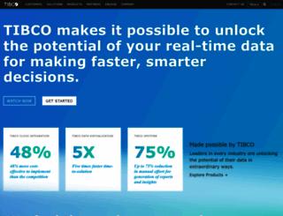 tibco.com screenshot
