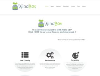 tibiawindbot.com screenshot