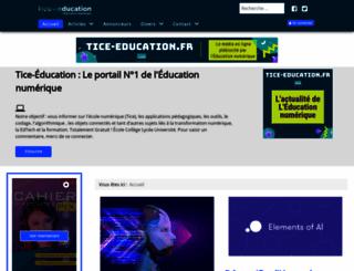 tice-education.fr screenshot