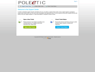 ticketing.poleetic.com screenshot