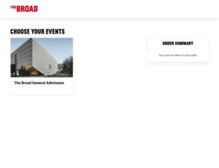 ticketing.thebroad.org screenshot