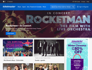ticketmaster.eu screenshot