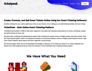 ticketpeak.com screenshot